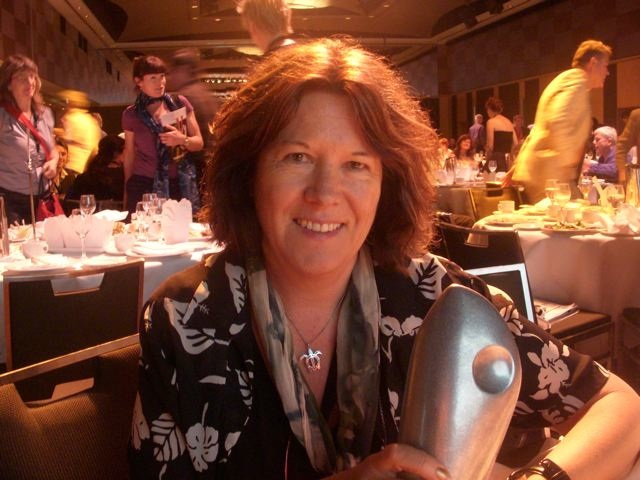 Cathy with SPAA award
